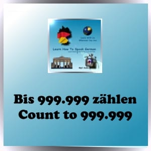 Counting in German to 999,999